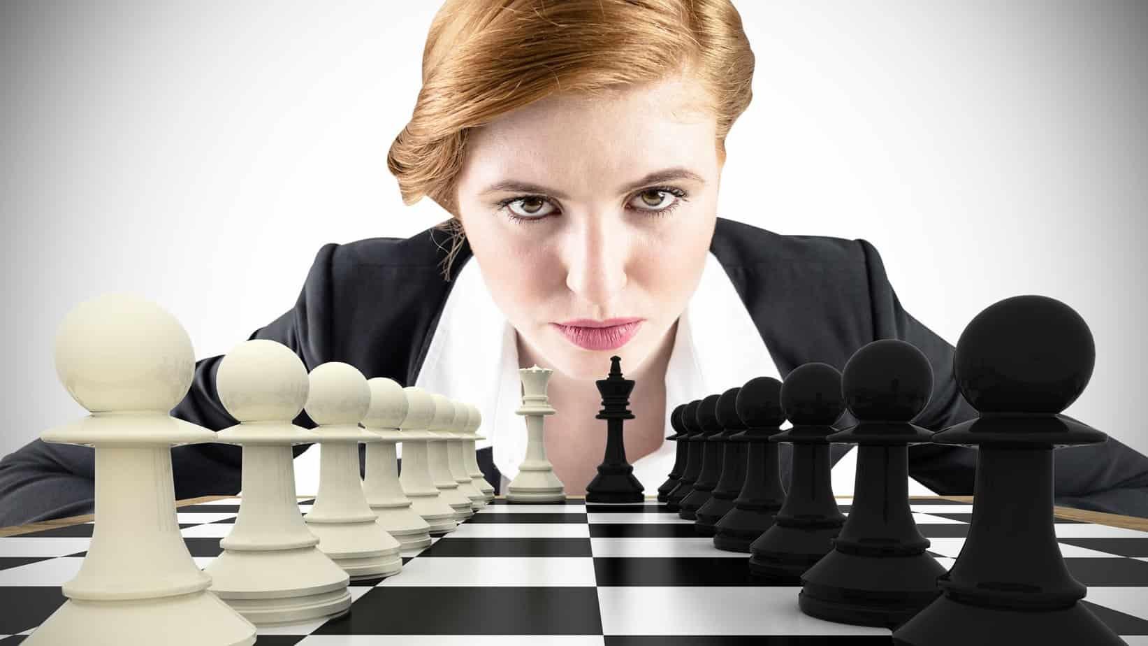 Vrouwelijk leiderschap schaken